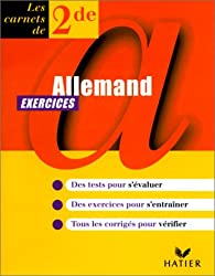 Allemand, seconde, carnet d'exercices