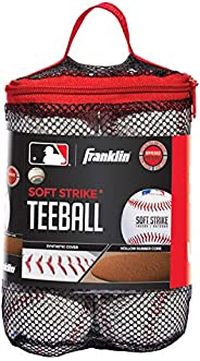 Franklin Sports Soft-Strike Teeball - Official Size and Weight Approved for Teeball - Hollow Core Technology f