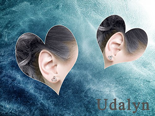 Udalyn 2 Pairs 20G Twisted Love Knot Earring Stainless Steel Heart Post Earrings For Women Girls Rose Gold-tonr by Udalyn (Image #3)