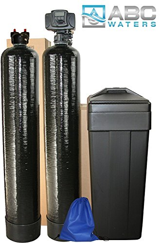 ABCwaters built Fleck 5600sxt 48,000 WATER SOFTENER with Upgraded 10% Resin + UPFLOW CARBON Filtration - Complete Whole House System