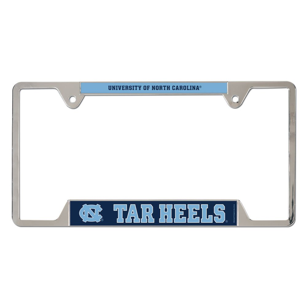 WinCraft North Carolina Tar Heels Official NCAA 12 inch x 6 inch Metal License Plate Frame by 215550