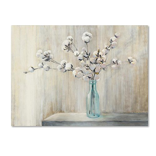 Bouquet Wall Art (Cotton Bouquet by Julia Purinton, 35x47-Inch Canvas Wall Art)