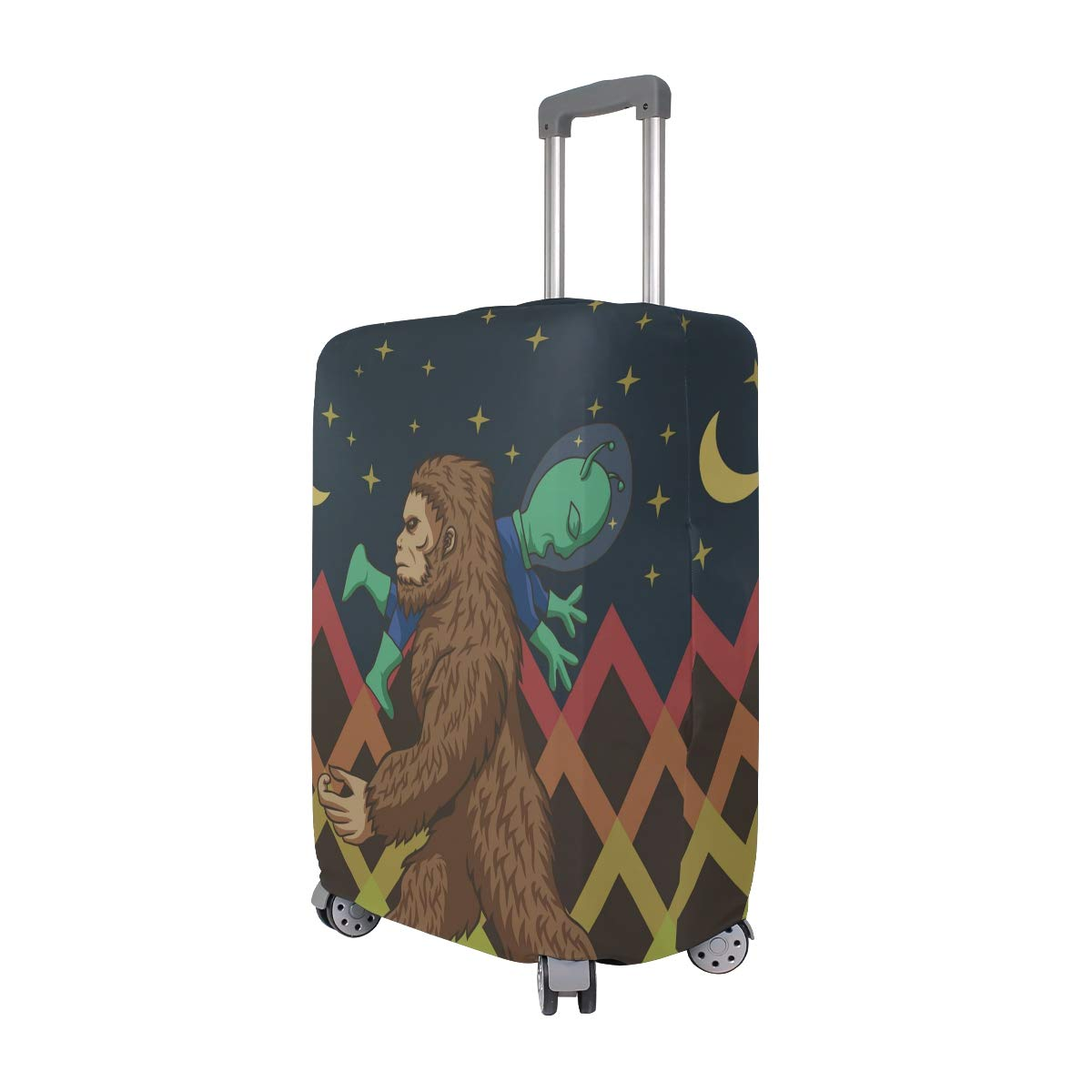Travel Luggage Cover Spandex Suitcase Protector Washable Baggage Covers Cartoon Frog