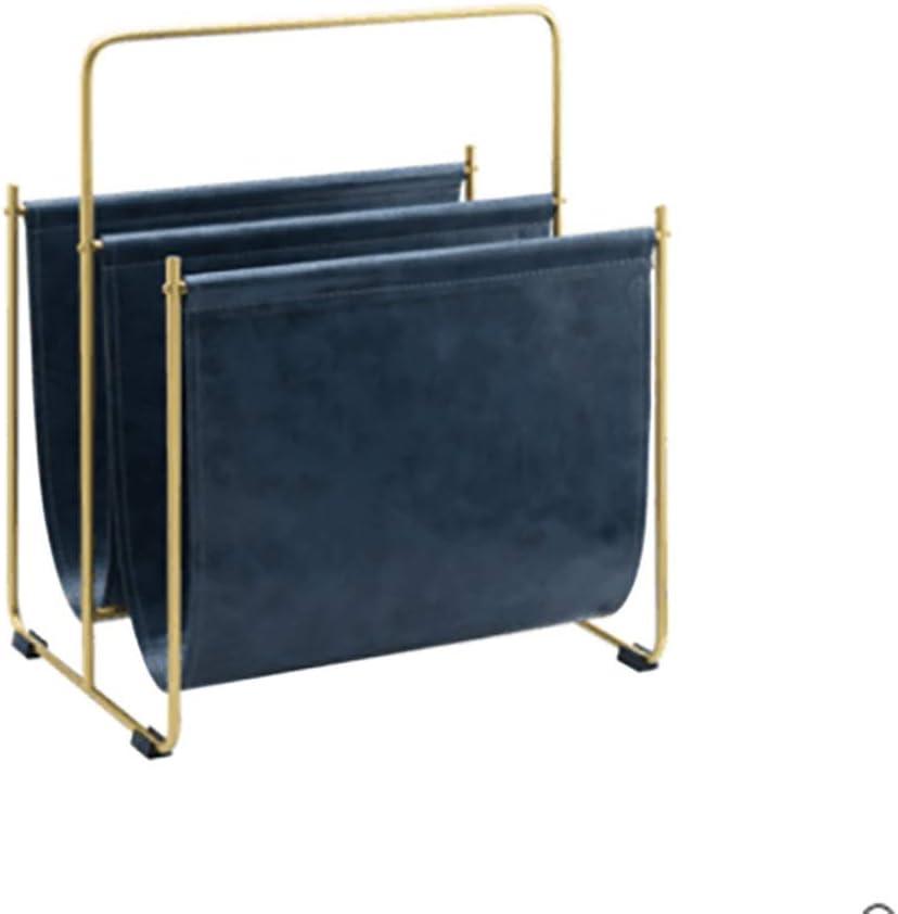 Lagerregal WWWANG Metallic-Leder-Magazine Rack Regal Zeitungsst/änder Blau Haus- und Lagerboden Simple Lagerregal Display-Rack Color : Blue 40x30x47cm