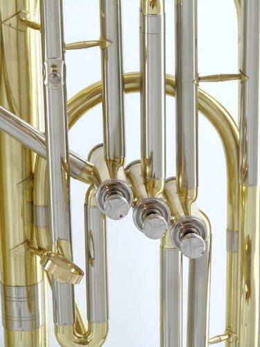 Schiller American Heritage 3-Valve BBb Piston Tuba - Gold Lacquer