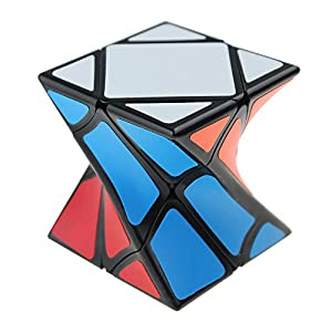 Magic Cube Set of 5 Pyraminx Pyramid Cube,Megaminx Cube, Silver Mirror Cube,SQ-1 and Twisty Skewb Cube Puzzle Collection