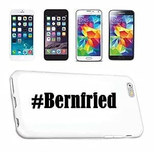 cubierta del teléfono inteligente Samsung S6 Galaxy Hashtag ... #Bernfried ... en Red Social Diseño caso duro de la cubierta protectora del teléfono Cubre Smart Cover para Samsung Galaxy Smartphone … en blanco ... delgado y hermoso, ese es nuestro hardcase. El caso se fija con un clic en su teléfono inteligente