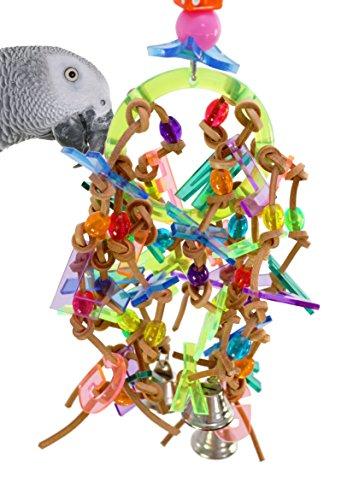 (Bonka Bird Toys 1159 Alphabet Bird Toy Parrot cage Craft Toys Cages Cockatiel Conure Caique)
