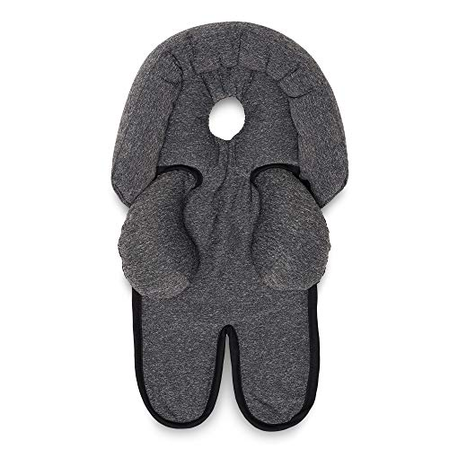 Boppy Head and Neck Support, Heathered Gray, Car Seat Head Support for Infants