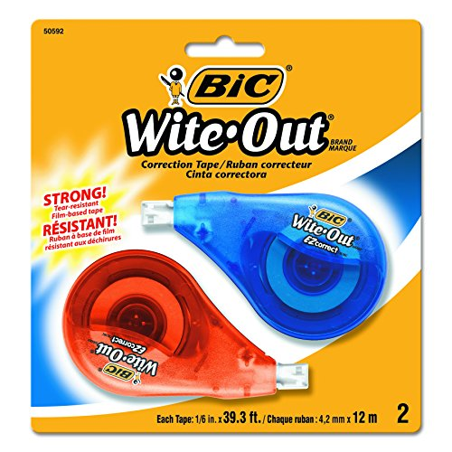 BIC Wite Out Correct Correction 2 Count