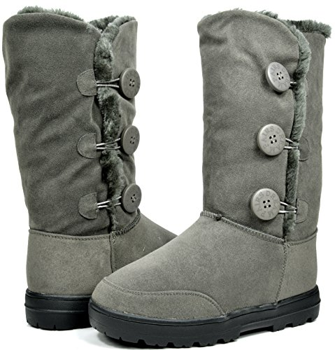 12090c9c925 DREAM PAIRS Women s Winter Snow Heavy Fur Lining Slip on Casual Fashion Cold  Weather Boots hot