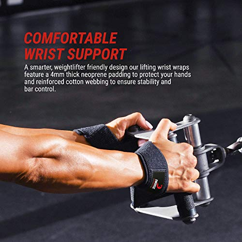 Weight Lifting Wrist Straps Muscle Support Wraps Gym Bodybuilding Training