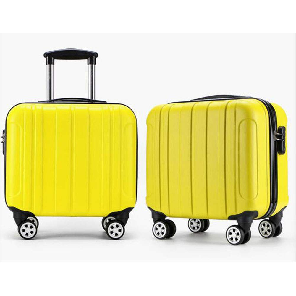 Hongsheng Mini Trolley Case 16 Inch Waterproof and Wear-Resistant Anti-Vibration Suitcase,Champagne