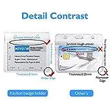 KEYLION 10 Pack Heavy Duty Horizontal ID Card
