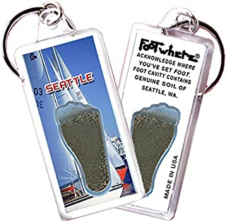 product image for Seattle FootWhere Key Chain. Made in USA (SEA106 - Sailing)