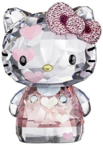 Swarovski Crystal Hello Kitty Pink Hearts Limited Edition 2012 Figurine 1142934