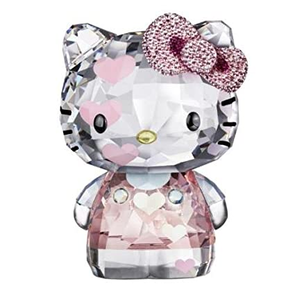 c7d4c4a0e Image Unavailable. Image not available for. Color: Swarovski Crystal Hello  Kitty Pink Hearts Limited Edition 2012 Figurine 1142934