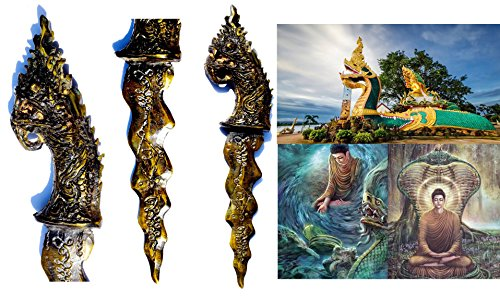 Magical (Meed Mhor knife ) Dragon Snake Dagger Buddhist Dagger Thai Amulet Hindu Dagger Unalome Symbol Good Luck Charm Talisman With Special (Global Guts Costume)