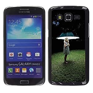 Be Good Phone Accessory // Dura Cáscara cubierta Protectora Caso Carcasa Funda de Protección para Samsung Galaxy Grand 2 SM-G7102 SM-G7105 // Light Girl Deep Grass Summer