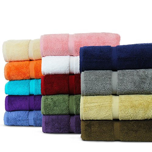 - BC BARE COTTON Luxury Hotel & Spa Towel Turkish Cotton Washcloths - Mix Color - Dobby Border - Set of 12