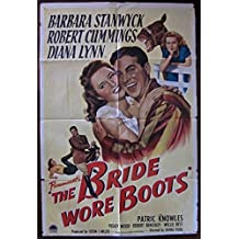 THE BRIDE WORE BOOTS - ORIGINAL 1946 ONE SHEET POSTER - BARBARA STANWYCK RARE