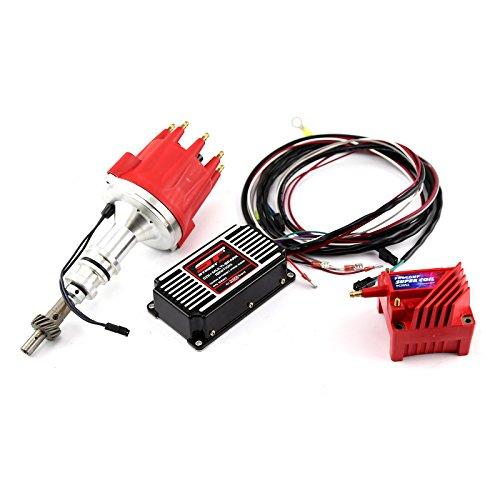 fits Ford 351W Windsor Pro Billet Distributor MSD CDI 5520 Ignition & Coil Kit ()