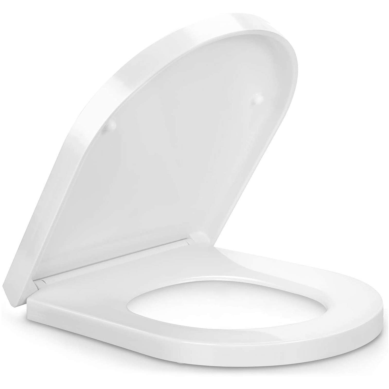 Top//Bottom Fixing for Bathroom Toilets Toilet seat Adjustable Hinges Soft Close Toilet Seats White Quick Release