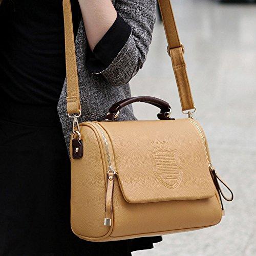 DELEY Vintage England Stil Messenger Tasche Tote Handtasche Schultertasche Khaki tTF8OSQahX