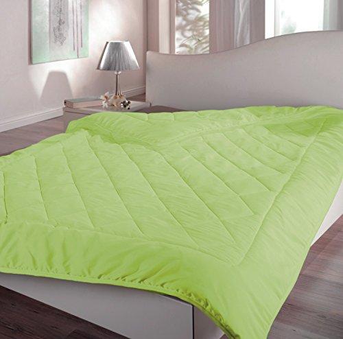 federleichtes Sommer Steppbett Bettdecke 135x200 - in verschiedenen Farben (grün)