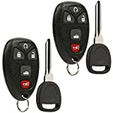 Keyless Entry Remote Ignition Key Fob fits Chevy Cobalt Malibu/Buick Allure Lacrosse/Pontiac G5 G6 Grand Prix Solstice/Saturn Aura Sky (fits Part # 22733524), Set of 2