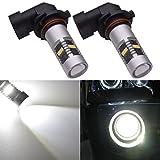 KaTur 2pcs 1800LM Extremely Bright H10/9145/9140 Fog Drving Light DRL Fog Light, 360 Degree Led Car Driving Light Fit for Daytime Running Light or Fog Lights Replacement White