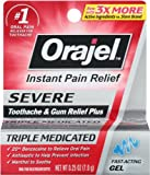Orajel Severe Toothache & Gum Relief Plus, Cooling Gel, 0.25 Oz