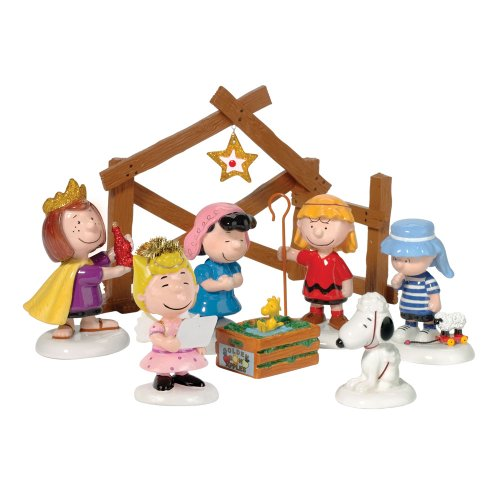 Department 56 Peanuts Pageant (Set of - Sheep Christmas Figurine Nativity