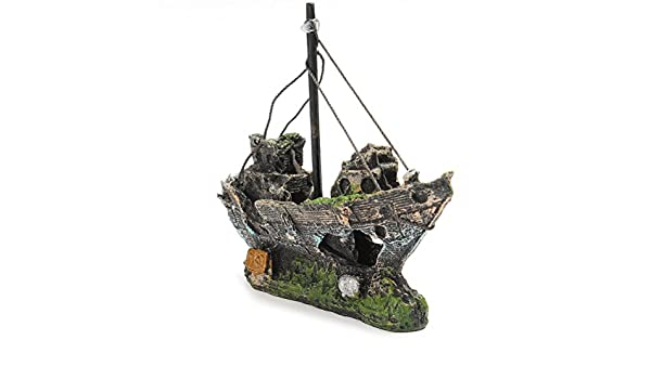 Amazon.com : BESTOYARD Resin Fishing Boat Aquarium Ornament for Fish Tank Accessories : Pet Supplies