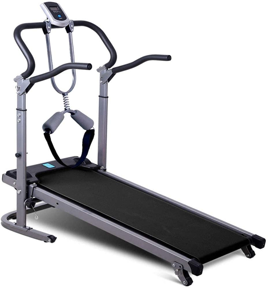 JIANJIAN/ Foldable Mechanical Treadmill Home Ultra-Quiet Small Walking Machine with Safety Belt Sports and Fitness Equipment, Shock Absorption/Handrail Lifting Adjustment/Commodity code: YWBBB-379