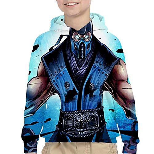 Mortal Kombat Girls (TWHDMMH745 Mor-tal KOM-bat Hoodies Boys and Girls Print 3D Sweaters Fashion Sweatshirts Pullover Youth S)