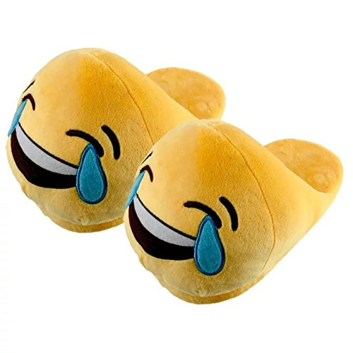 [KateDy Cute Emoji Emotion Children Adult Slippers Shoes Warm Funny Emoji Slippers Winter Plush Slide Slipper Great for] (Child Star Wars Costume Australia)