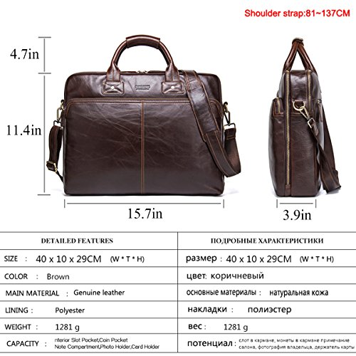 Fashion Business Coffee Genuine 1 trends YUHUA20 coffee Leather Men 1 Cowhide QISHI YUHUA QISHI handbag qwfECR