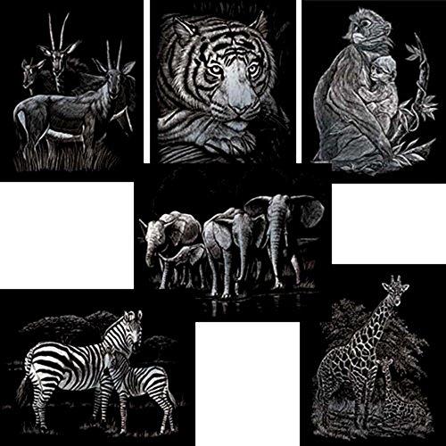 Royal Brush Zoo Animals Silver Engraving Art Set by ROYAL BRUSH