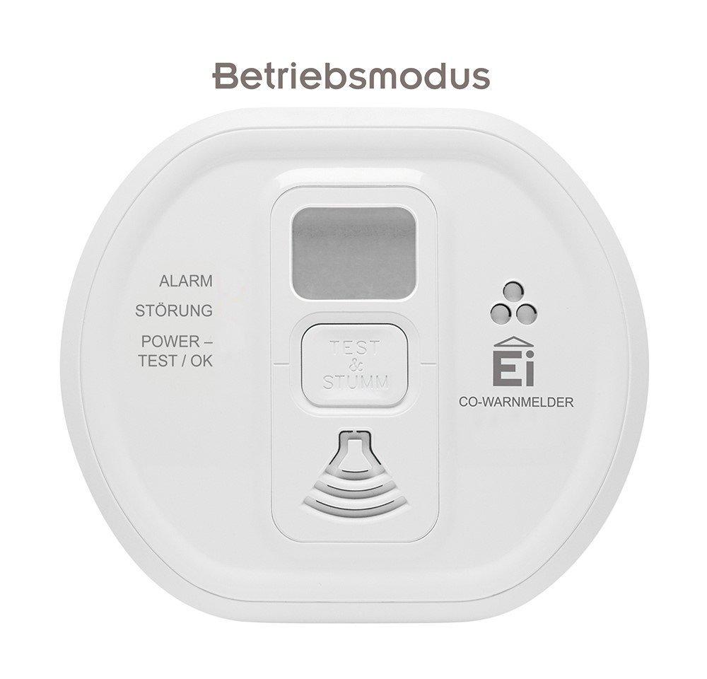 Ei Electronics 10-año-detectores de monóxido de carbono con pantalla LCD-pantalla y batería de litio (para casa, Camping y embarcaciones) Blanco, ...