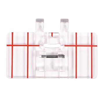 Prensatelas de Puntada Paralela Pata de Prensatelas Paralelo el Pie Prensatelas Plástico Claro Transparente para la Máquina Coser: Amazon.es: Hogar