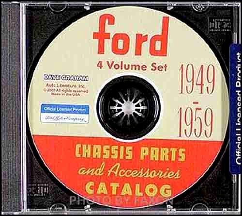 1949 1950 1951 1952 1953 1954 1955 1956 1957 1958 1959 FORD CAR CHASSIS PARTS & ACCESSORIES CATALOG - INCLUDES Custom, Galaxie, Fairlane, Retractable, Sunliner, Courier, Ranchero 1958 Ford Galaxie