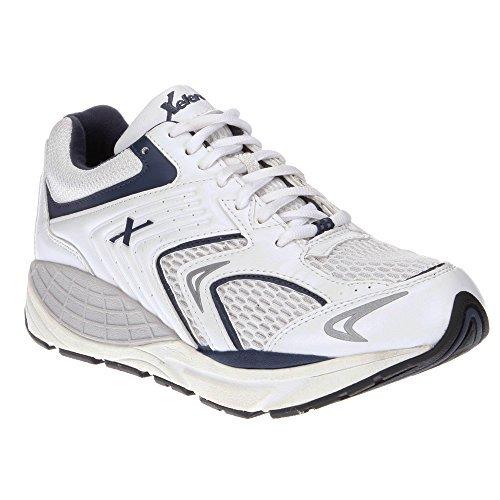 Xelero Matrix Men's Comfort Therapeutic Extra Depth Sneaker Shoe: White/Navy 12.0 Medium (D) Lace