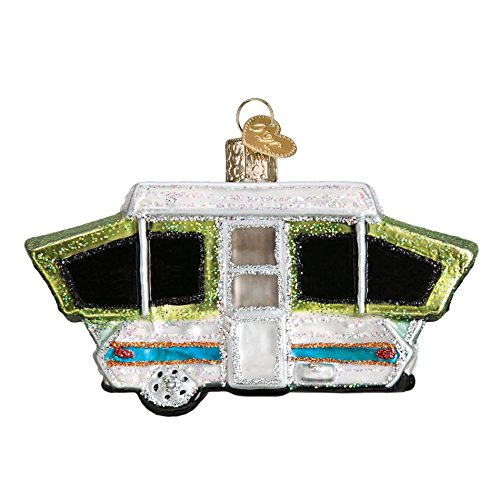 Campers Tent - Old World Christmas Tent Camper Glass Blown Ornament
