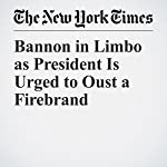 Bannon in Limbo as President Is Urged to Oust a Firebrand | Maggie Haberman,Glenn Thrush