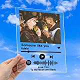 Custom Spotify Plaque Art Personalized Scannable Spotify Code Photo Gifts,Customized Acrylic Song Album Cover