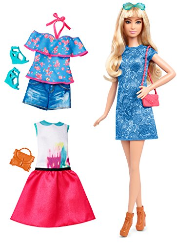 Barbie Fashionistas Doll & Fashions Lacey Blue, Tall Blonde (Models With Blonde Hair And Brown Eyes)