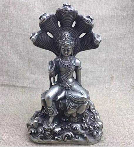 - Viet SF Bronze Statue - Collection of Antique Sculpture White Copper,Silver Plated Guanyin Statue,Buddha Beast Six Snake Sculpture Free Transportation - by GTIN - 1 Pcs
