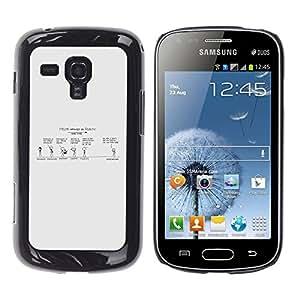 Esa pureza Convo - Metal de aluminio y de plástico duro Caja del teléfono - Negro - Samsung Galaxy S Duos S7562