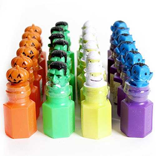 Kicko 2.75 Inch Halloween Bubble Bottle - 24 Pieces of Spooky Blob Holders - Perfect for Dessert Table Scatters, Water Gun Refill, Novelty Toys, Trick or Treat, Party Favor and Supplies